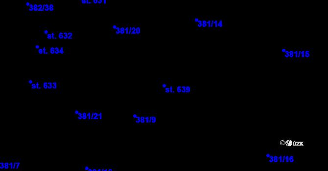 Parcela st. 639 v k.ú. Dražkovice, Katastrální mapa