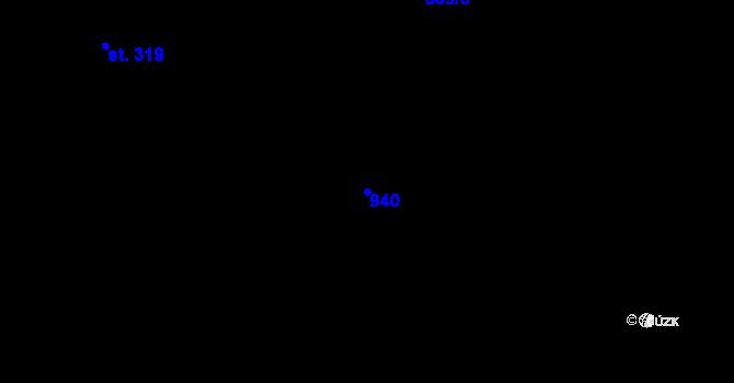 Parcela st. 940 v k.ú. Dubné, Katastrální mapa