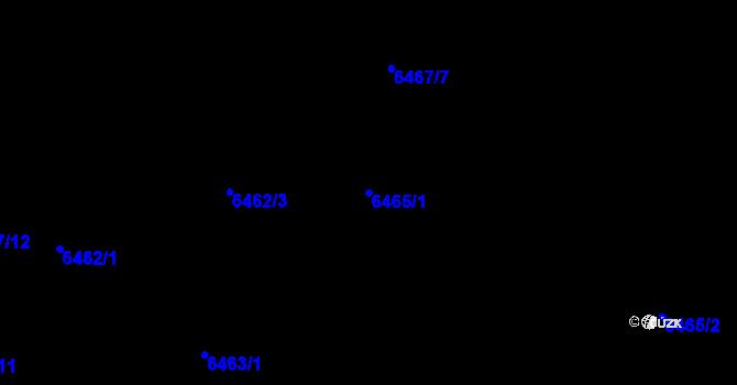 Parcela st. 6465/1 v k.ú. Frýdek, Katastrální mapa