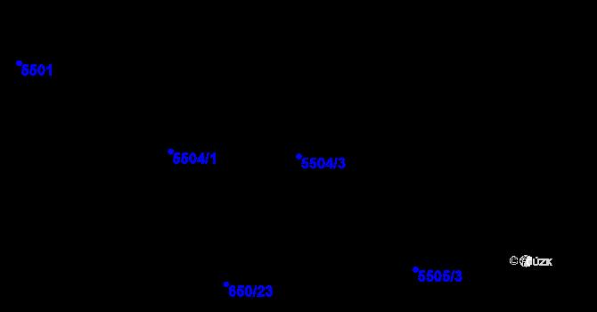 Parcela st. 5504/3 v k.ú. Frýdek, Katastrální mapa