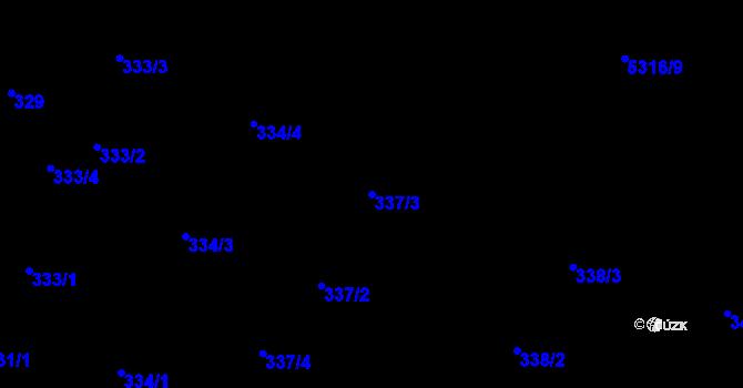 Parcela st. 337/3 v k.ú. Frýdek, Katastrální mapa