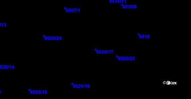 Parcela st. 6520/17 v k.ú. Frýdek, Katastrální mapa