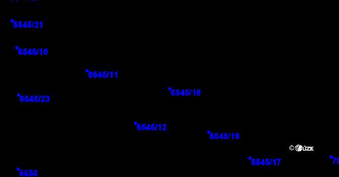 Parcela st. 6545/18 v k.ú. Frýdek, Katastrální mapa