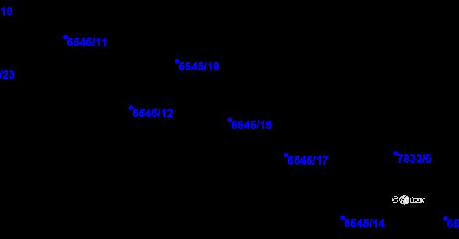 Parcela st. 6545/19 v k.ú. Frýdek, Katastrální mapa