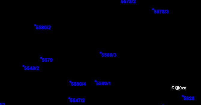 Parcela st. 5580/3 v k.ú. Frýdek, Katastrální mapa