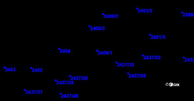 Parcela st. 2400/1 v k.ú. Frýdlant nad Ostravicí, Katastrální mapa