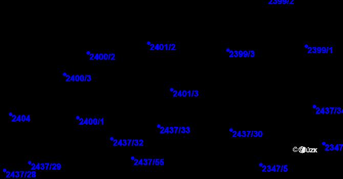 Parcela st. 2401/3 v k.ú. Frýdlant nad Ostravicí, Katastrální mapa