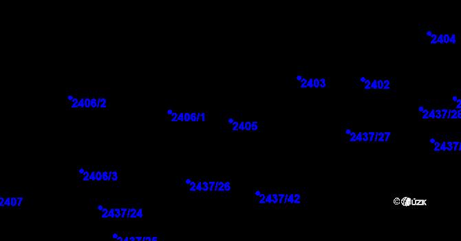 Parcela st. 2405 v k.ú. Frýdlant nad Ostravicí, Katastrální mapa