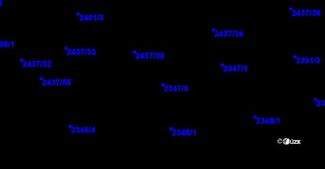 Parcela st. 2347/5 v k.ú. Frýdlant nad Ostravicí, Katastrální mapa