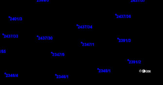 Parcela st. 2347/1 v k.ú. Frýdlant nad Ostravicí, Katastrální mapa