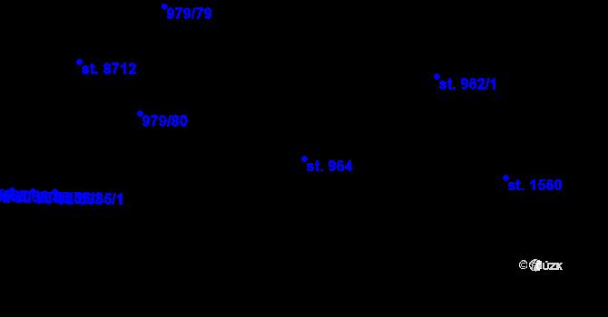 Parcela st. 964 v k.ú. Zlín, Katastrální mapa