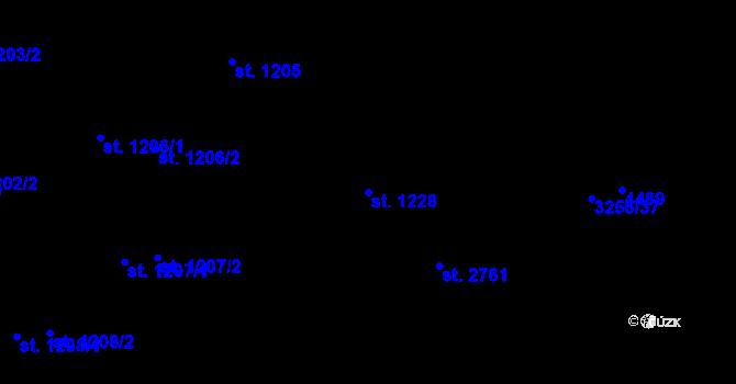 Parcela st. 1228 v k.ú. Zlín, Katastrální mapa