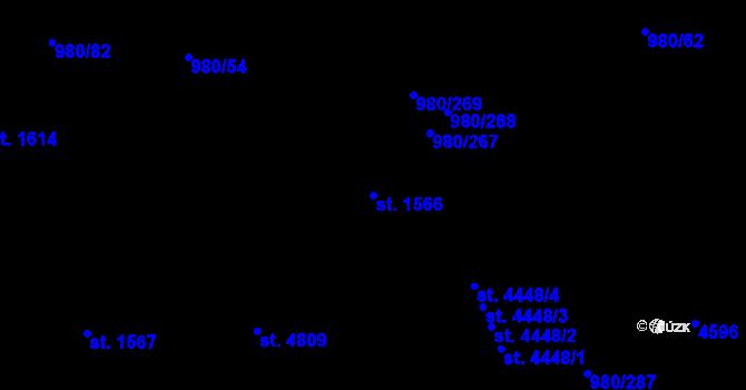 Parcela st. 1566 v k.ú. Zlín, Katastrální mapa
