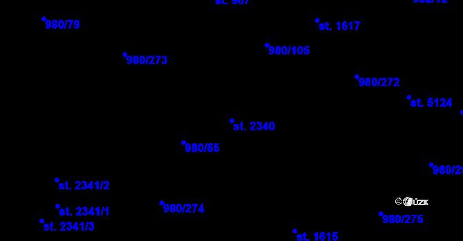 Parcela st. 2340 v k.ú. Zlín, Katastrální mapa