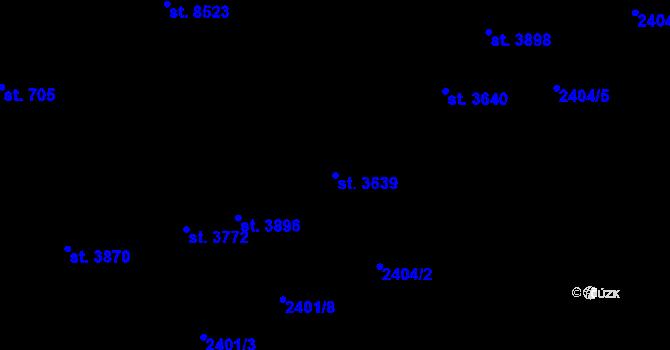 Parcela st. 3639 v k.ú. Zlín, Katastrální mapa