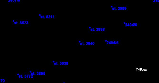 Parcela st. 3640 v k.ú. Zlín, Katastrální mapa