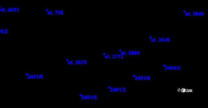 Parcela st. 3772 v k.ú. Zlín, Katastrální mapa