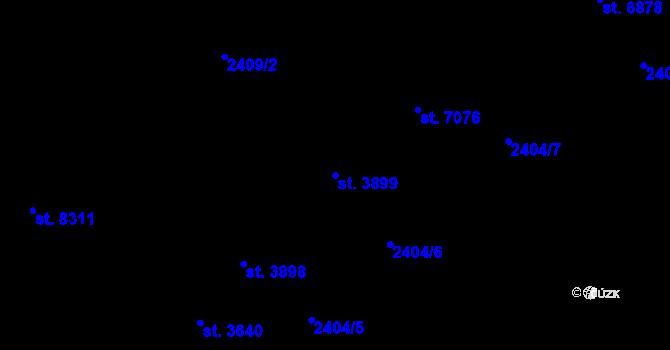 Parcela st. 3899 v k.ú. Zlín, Katastrální mapa