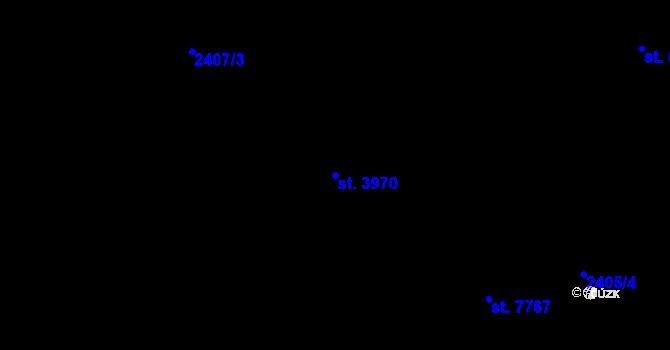 Parcela st. 3970 v k.ú. Zlín, Katastrální mapa