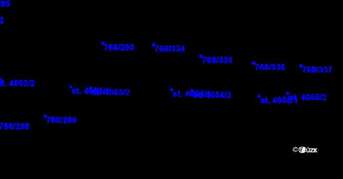 Parcela st. 4054/1 v k.ú. Zlín, Katastrální mapa