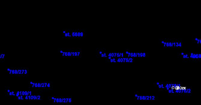 Parcela st. 4075/1 v k.ú. Zlín, Katastrální mapa