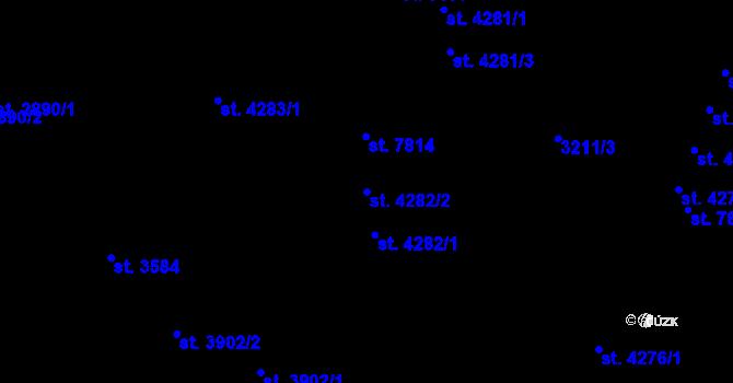 Parcela st. 4282/2 v k.ú. Zlín, Katastrální mapa