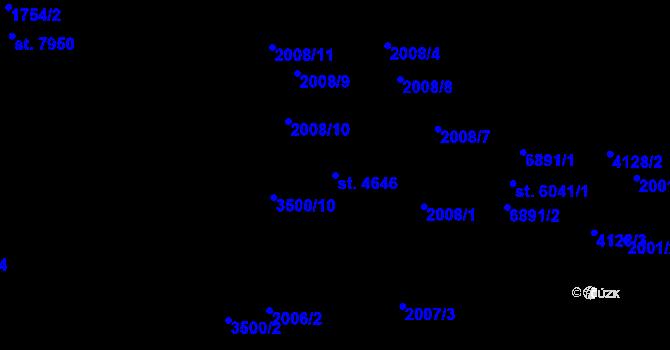 Parcela st. 4646 v k.ú. Zlín, Katastrální mapa