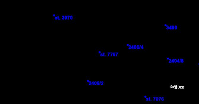 Parcela st. 7767 v k.ú. Zlín, Katastrální mapa