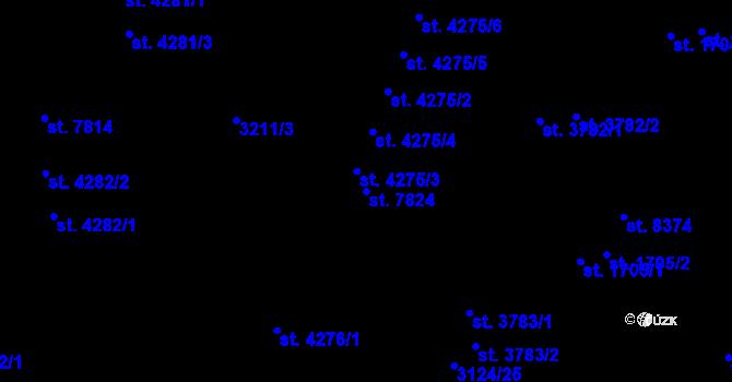 Parcela st. 7824 v k.ú. Zlín, Katastrální mapa