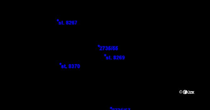 Parcela st. 8269 v k.ú. Zlín, Katastrální mapa