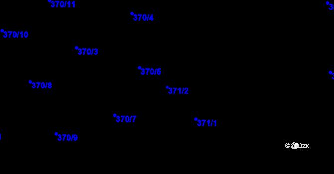 Parcela st. 371/2 v k.ú. Jaroslavice u Zlína, Katastrální mapa