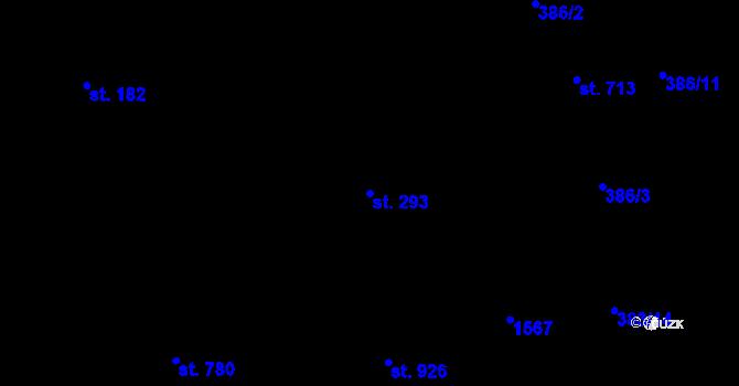 Parcela st. 293 v k.ú. Kudlov, Katastrální mapa