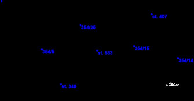 Parcela st. 583 v k.ú. Kudlov, Katastrální mapa