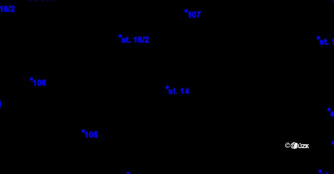 Parcela st. 14 v k.ú. Malenovice u Zlína, Katastrální mapa