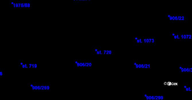 Parcela st. 720 v k.ú. Malenovice u Zlína, Katastrální mapa