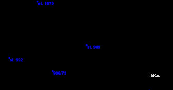 Parcela st. 989 v k.ú. Malenovice u Zlína, Katastrální mapa