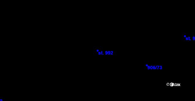 Parcela st. 992 v k.ú. Malenovice u Zlína, Katastrální mapa