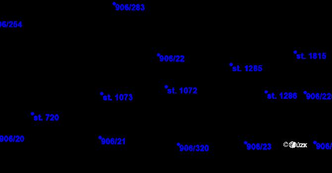Parcela st. 1072 v k.ú. Malenovice u Zlína, Katastrální mapa