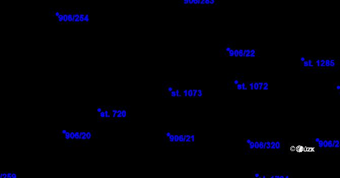 Parcela st. 1073 v k.ú. Malenovice u Zlína, Katastrální mapa