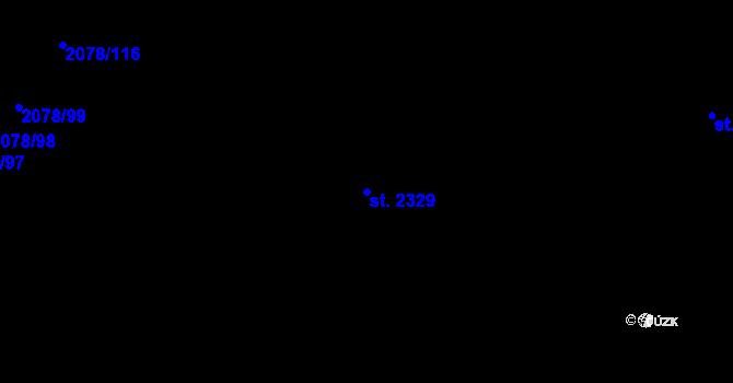 Parcela st. 2329 v k.ú. Malenovice u Zlína, Katastrální mapa