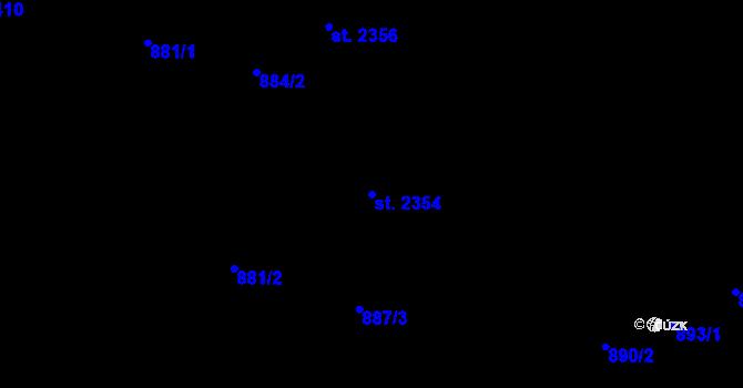 Parcela st. 2354 v k.ú. Malenovice u Zlína, Katastrální mapa