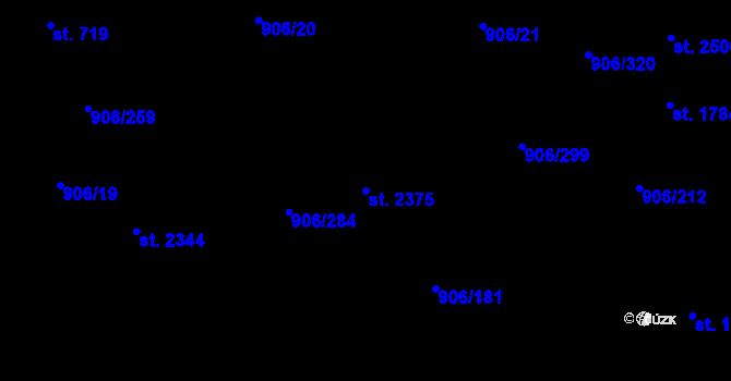 Parcela st. 2375 v k.ú. Malenovice u Zlína, Katastrální mapa