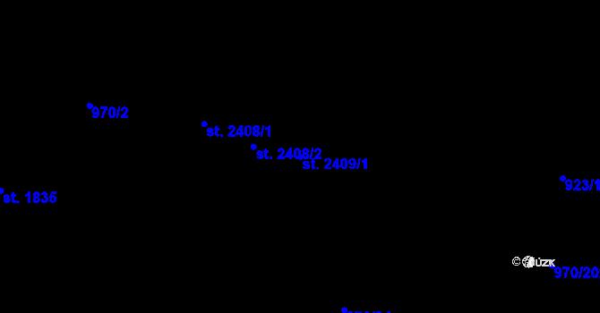 Parcela st. 2409/1 v k.ú. Malenovice u Zlína, Katastrální mapa