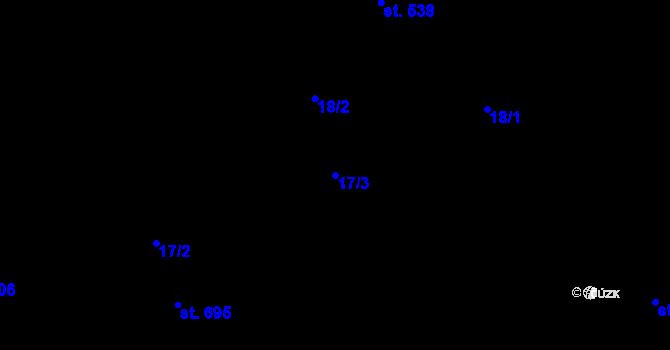 Parcela st. 17/3 v k.ú. Malenovice u Zlína, Katastrální mapa