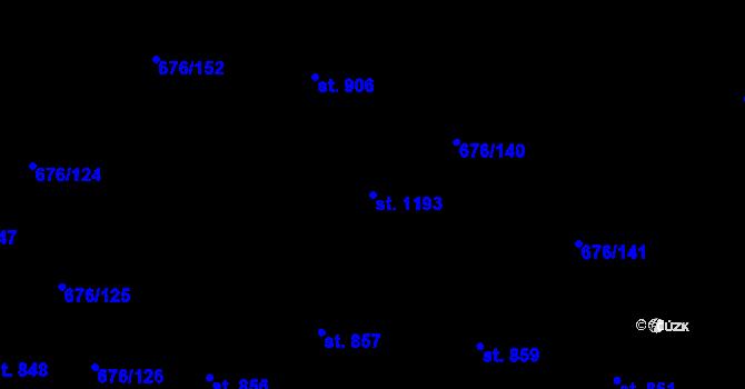 Parcela st. 1193 v k.ú. Prštné, Katastrální mapa