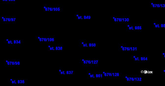 Parcela st. 850 v k.ú. Prštné, Katastrální mapa