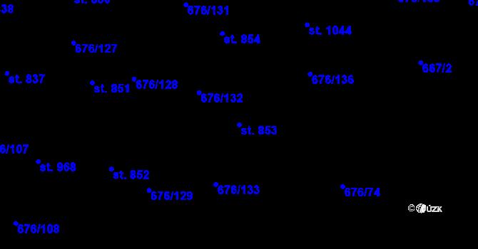 Parcela st. 853 v k.ú. Prštné, Katastrální mapa