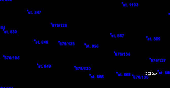 Parcela st. 856 v k.ú. Prštné, Katastrální mapa