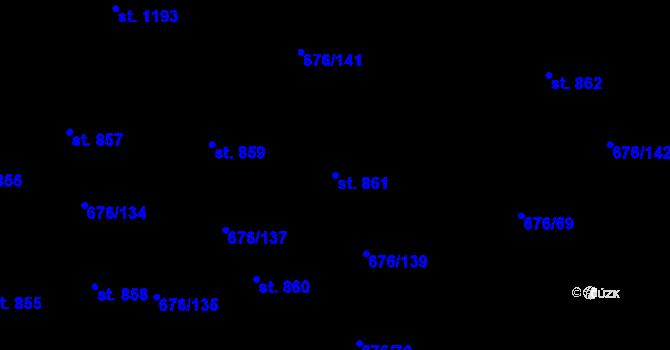 Parcela st. 861 v k.ú. Prštné, Katastrální mapa