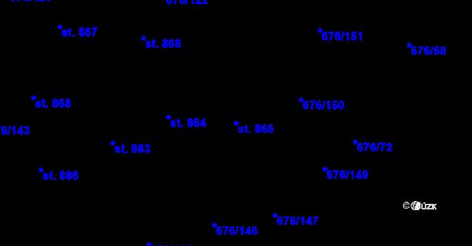 Parcela st. 865 v k.ú. Prštné, Katastrální mapa